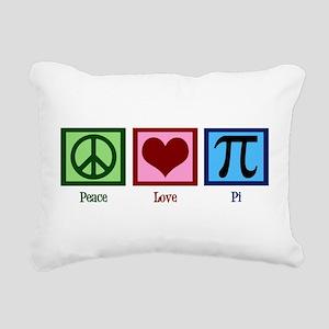 Peace Love Pi Rectangular Canvas Pillow