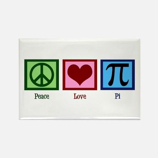 Peace Love Pi Rectangle Magnet