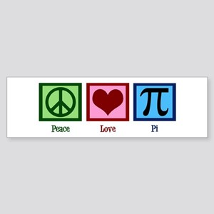 Peace Love Pi Sticker (Bumper)