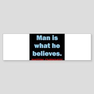 Man Is What He Believes - Anton Chekhov Sticker (B