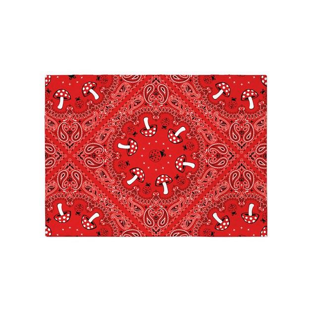 Red Bandana 5 X7 Area Rug By Karenscurtainsandrugs