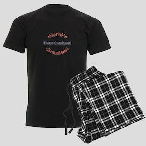 W Greatest Househusband Men's Dark Pajamas
