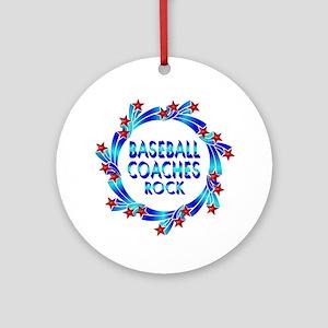 Baseball Coaches Rock Ornament (Round)