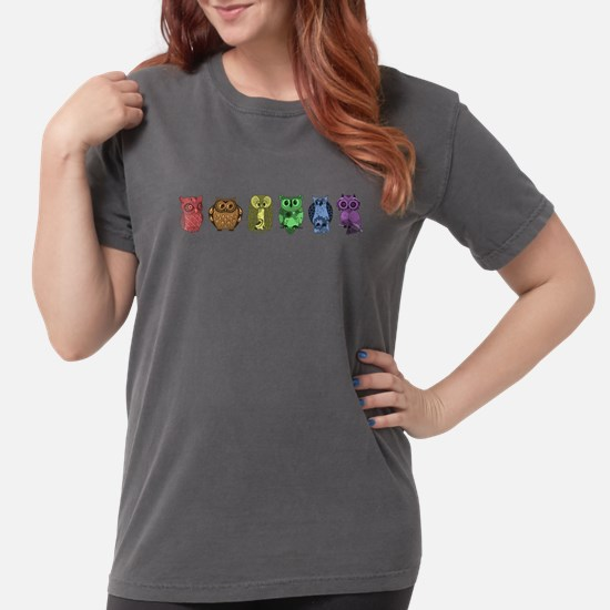 Rainbow Owls Womens Comfort Colors Shirt
