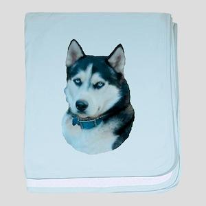 Husky dog baby blanket