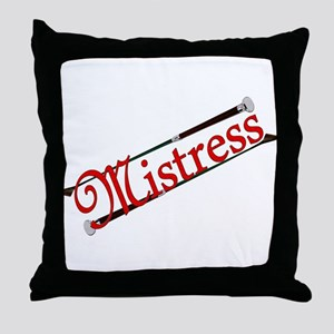 """""""Mistress"""" Title with Riding Crops Throw Pillow"""