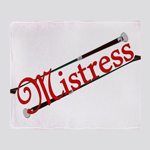 """Mistress"" Title with Riding Crops Throw Blanket"