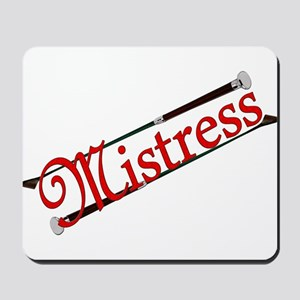 """Mistress"" Title with Riding Crops Mousepad"