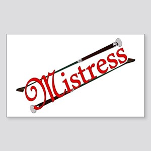 """Mistress"" Title with Riding Crops Sticker (Rectan"