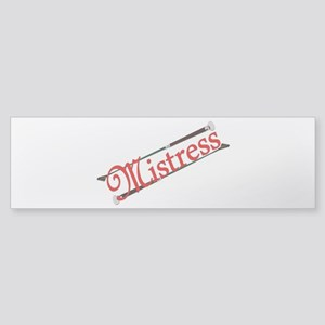 """Mistress"" Title with Riding Crops Sticker (Bumper"