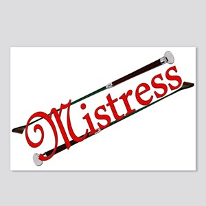 """""""Mistress"""" Title with Riding Crops Postcards (Pack"""