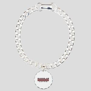 Born In Latvia Charm Bracelet, One Charm