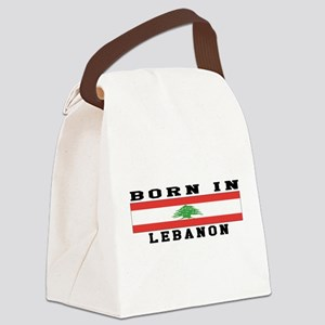 Born In Lebanon Canvas Lunch Bag