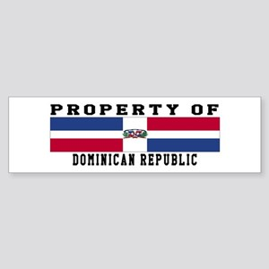 Property Of Dominican Republic Sticker (Bumper)