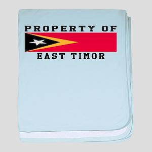 Property Of East Timor baby blanket