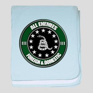 All Enemies baby blanket