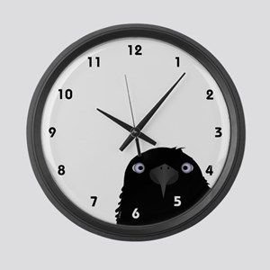 Eating Crow Large Wall Clock