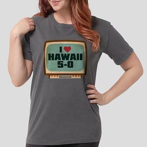Retro I Heart Hawaii 5-0 Womens Comfort Colors Shi
