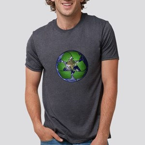 Green Recycle on Earth Mens Tri-blend T-Shirt