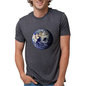 Eastern Earth from Space Mens Tri-blend T-Shirt