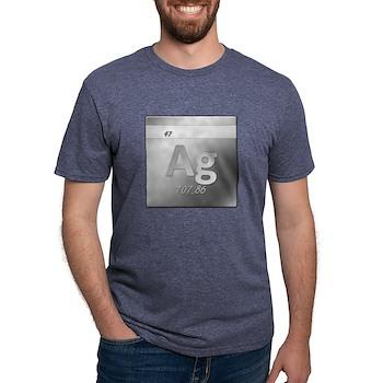 Silver (Ag) Mens Tri-blend T-Shirt