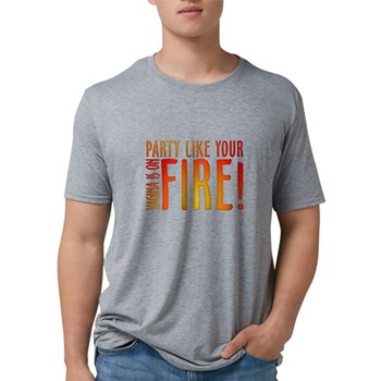Party Like Your Vagina is on Mens Tri-blend T-Shir