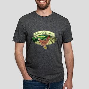 Salmonella Farms - Chicken Mens Tri-blend T-Shirt