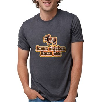 Brown Chicken Brown Cow Mens Tri-blend T-Shirt