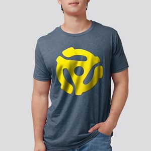 Yellow 45 RPM Adapter Mens Tri-blend T-Shirt