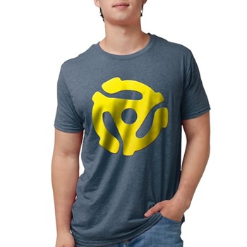 Yellow 45 RPM Adapter Mens Tri-blend T-Shirt