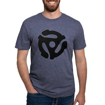 Black 45 RPM Adapter Mens Tri-blend T-Shirt
