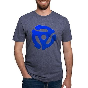 Blue 45 RPM Adapter Mens Tri-blend T-Shirt