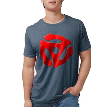 Red 45 RPM Adapter Mens Tri-blend T-Shirt