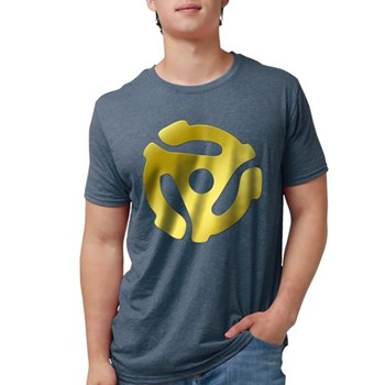 Gold 45 RPM Adapter Mens Tri-blend T-Shirt