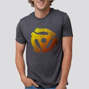 Distressed 45 RPM Adap Mens Tri-blend T-Shirt