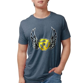 Blue Winged 45 RPM Adap Mens Tri-blend T-Shirt