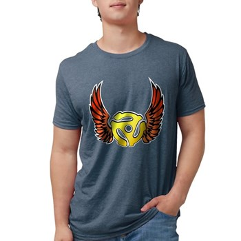 Red Winged 45 RPM Adap Mens Tri-blend T-Shirt