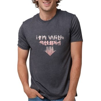 I'm with Stupid Mens Tri-blend T-Shirt
