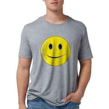 Smiley Face - Happy Smile Mens Tri-blend T-Shirt