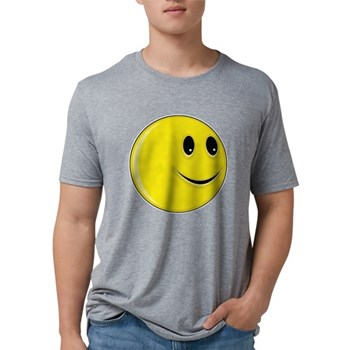 Smiley Face - Looking Left Mens Tri-blend T-Shirt