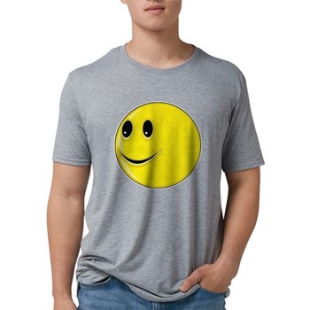 Smiley Face - Looking Right Mens Tri-blend T-Shirt