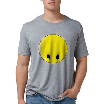 Smiley Face - Looking Down Mens Tri-blend T-Shirt
