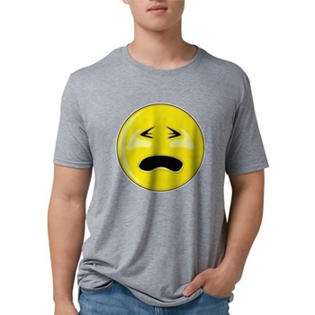 Smiley Face - Crying Mens Tri-blend T-Shirt