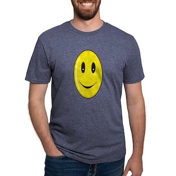 Long Face - Smile Mens Tri-blend T-Shirt