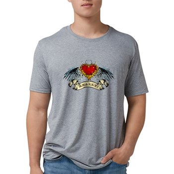 Really? Winged Heart Mens Tri-blend T-Shirt