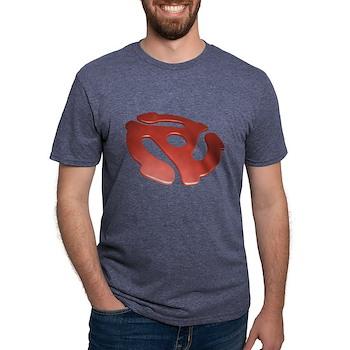 Red 3D 45 RPM Adapter Mens Tri-blend T-Shirt
