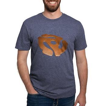 Orange 3D 45 RPM Adapter Mens Tri-blend T-Shirt