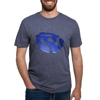 Blue 3D 45 RPM Adapter Mens Tri-blend T-Shirt
