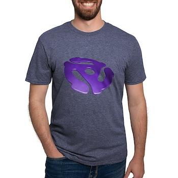 Purple 3D 45 RPM Adapter Mens Tri-blend T-Shirt
