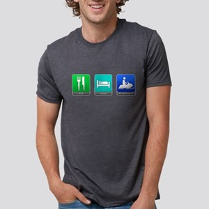 Eat, Sleep, Snowmobile Mens Tri-blend T-Shirt